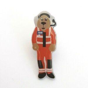 North West Air Ambulance pup mascot pin badge