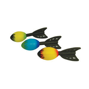 Image of multicoloured squidgy rocket.