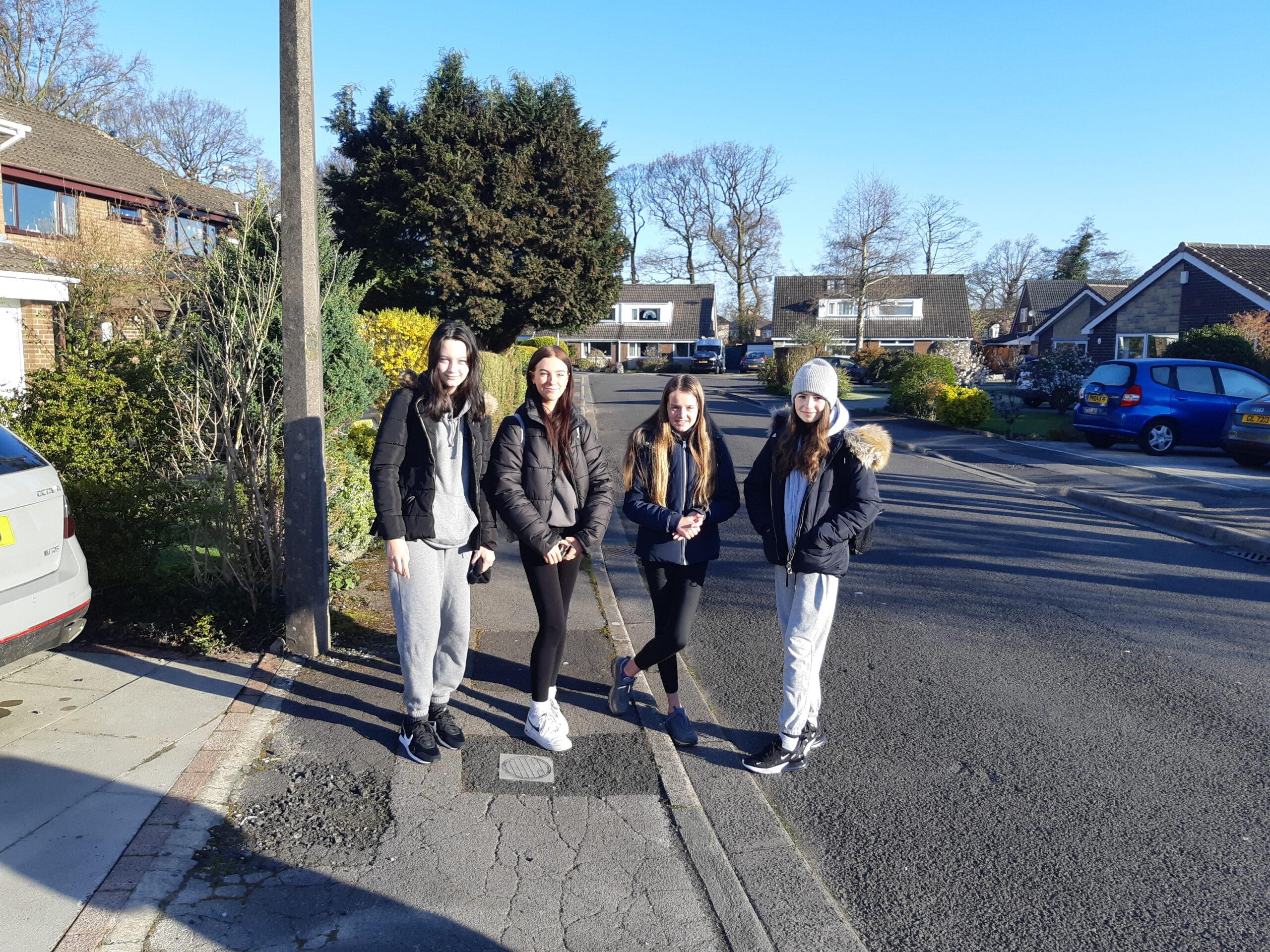 Ellie, Carla, Kiera and Laura