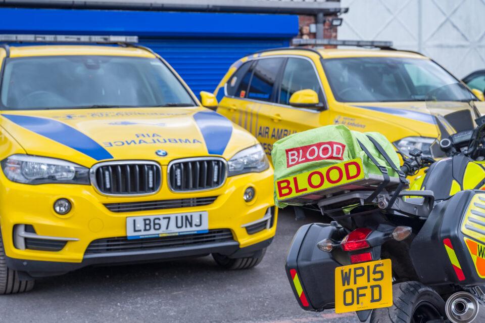 blood bike and response car