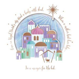 Pastel design of Bethlehem.