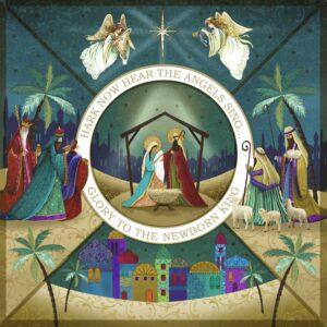 Illustrative nativity scene.